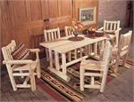 Dining and Kitchen Chairs, Tables, Captains Chair, Dining Chair, Dining Table Bench, Bistro Set, Family Dining Table, Buffet, Hutch, Rustic Cedar Log Furniture