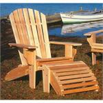 Adirondack English Chair, Table, Otterman, Rustic Garden Cedar Log Furniture Sets