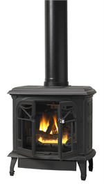 CISB-SDVB Oxford Cast Iron Stove Flat Black Finish Direct Vent Gas Cast Iron Stove Vantage Hearth