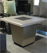 Cosmopolitan Square Fire Table Shown with a Smoke Finish
