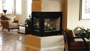 Direct Vent Gas Fireplace, Muliti View, See Thru, Peninsula, Systems