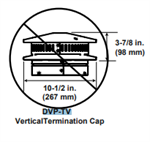 DVP-TV Vertical Direct Vent Termination Cap with Storm Collar