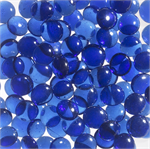 GP43B Blue Smooth Glass Pebbles for 43