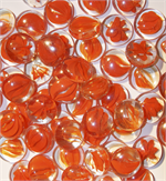 GP43SO Speckled Orange Smooth Glass Pebbles for 43