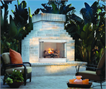Outdoor Vent Free Gas Fireplace Hearth System