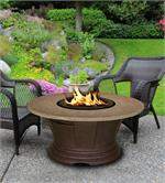 San Simeon Chat Height with Brown Base and Sunset Gold Granite Top