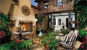 Wood Burning Outdoor Fireplace System