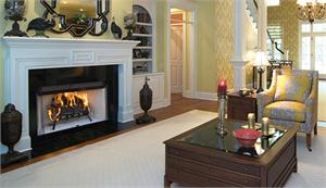 Wood Burning Indoor Fireplace System