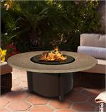 Fire Pit Table Carmel Chat Height Multifunctional with Reflections Glass