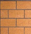 Warm Red Masonry Stacked Firebrick Wall