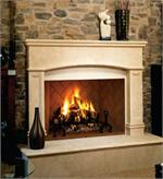 Vanguard Winston 50 Inch Wood Burning Mosaic Masonry Indoor Fireplace with Mosaic Masonry Brick Liner VGM50
