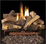 LEF FMI Montana Fiber Logs with ETF Ember Master Vent-Free Triple Flame Gas Burner