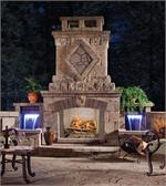 VJ42 Vantage Hearth Premium Outdoor Wood Burning Fireplace 42