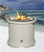 Island Fire Pit Shown in Adobe