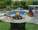 La Costa Dining Height Gas Logs Fire Pit Table