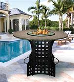 La Costa Bar Height Multifunctional Arctic Flame Glass Fire Pit Table