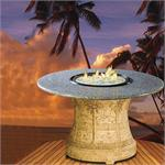 Palm Dining Height Multifunctional Arctic Flame Glass Fire Pit Table