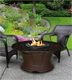 San Simeon Chat Height Multifunctional Reflection Glass Fire Pit Table
