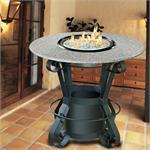 Solano Bar Height Multifunctional Reflection Glass Fire Pit Table