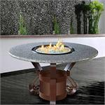 Solano Dining Height Multifunctional Arctic Flame Glass Fire Pit Table