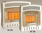 SC-18 SunStar Infrared Radiant Heater Wall/Floor Mount Gas Heaters SC-18