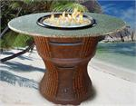 Tradewinds Bar Height Multifunctional Arctic Flame Glass Fire Pit Table