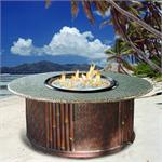 Tradewinds Chat Height Multifunctional Arctic Flame Glass Fire Pit Table