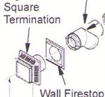 HTKS-58 Direct Vent Horizontal Square Termination Kit Comfort Glow Desa FMI Vanguard