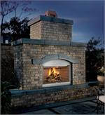 S42 FMI Tuscan Outdoor Fireplace Natural White Stacked Brick Liner