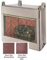Odyssey Outdoor Vent Free Gas Fireplace Hearth Warm Red Stacked Brick 36