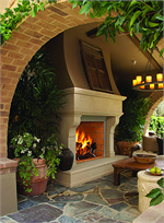 Outdoor Woodburning Fireplace Hearth System