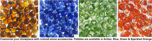 Glass Ember, Pebbles, Crushed Glass Rock, Glass Media Kits for Superior, IHP, Lennox, Astria, FMI Fireplaces