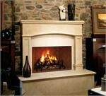 VGM42 Vantage Hearth Premium Winston Luxury Series Masonry Wood Burning Fireplaces with Mosaic Masonry Brick Liner