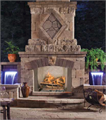 VQ50 Vantage Hearth Premium Sagamore Outdoor Stainless Steel Traditional Paneled Vent-Free Firebox