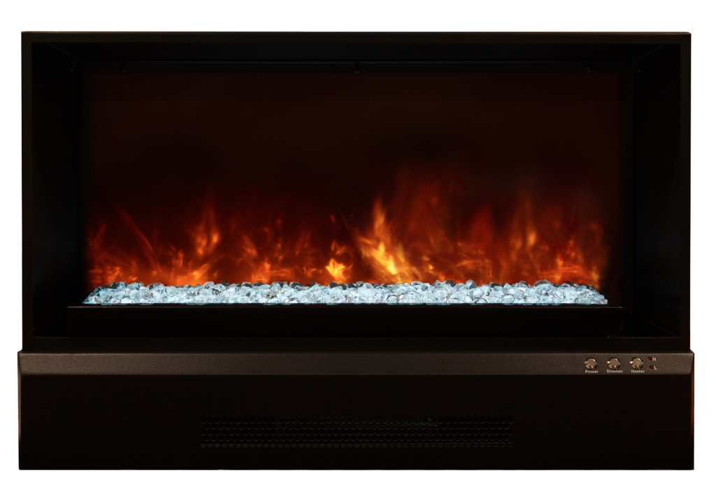 Electric fireplace insert zcr series by modern flame for Contemporary fireplace insert