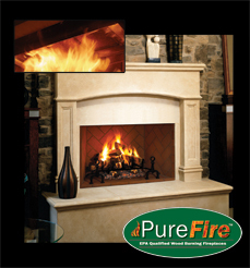 FMI HearthCATs™ PureFire™ Green Technology Emission Clean Burning Wood Fireplace