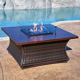 Santa Cruz Series Outdoor Gas Fire Pits