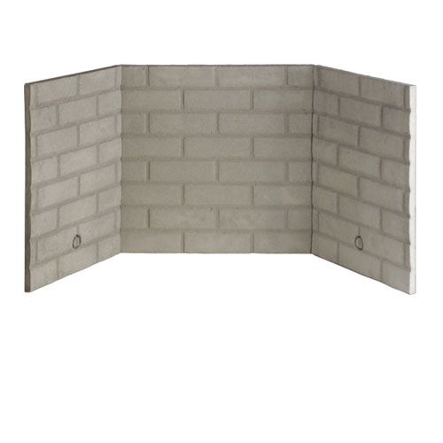 Bl32 32 Quot Refractory Standard Almond White Stacked Brick