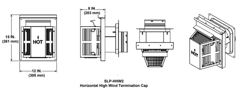 Slp Hhw2 High Wind Horizontal Termination Direct Vent Pipe