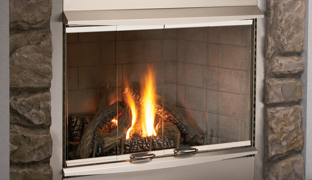 Outdoor Stainless Steel Complete Vent Free 42 U0026quot  Fireplace