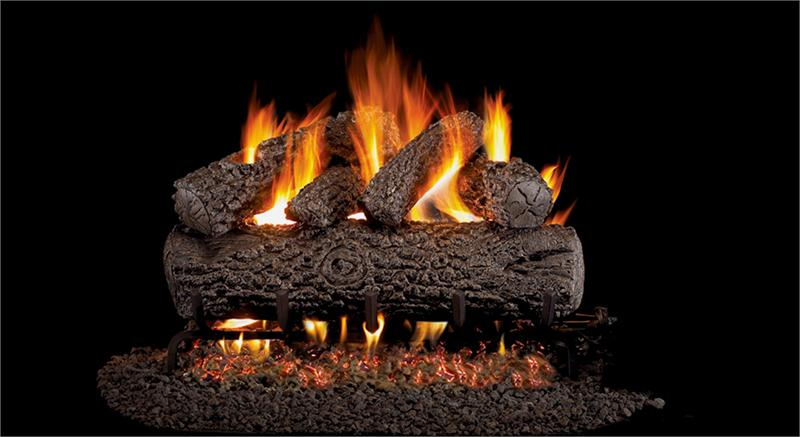 Pog46 20 Peterson Real Fyre Post Oak Vented Gas Logs Set With G46 Series Burner