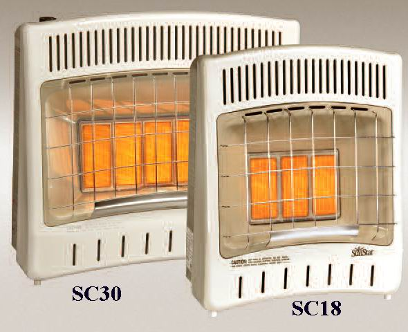 Sc 18 Sunstar Infrared Radiant Heater Wall Floor Mount Gas