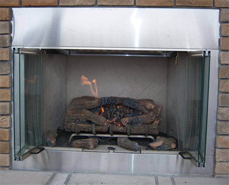 Alpine Superior Outdoor Stainless Steel Vent Free 36 O36 Vre3036 Gas Fireplace Hearth Refractory Brick Liners
