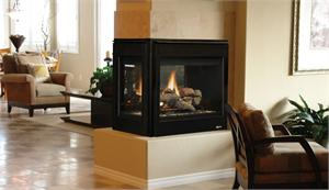 Superior DRT40PF Direct Vent Indoor Peninsula Fireplace