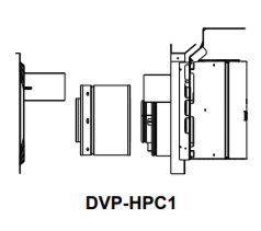 DVP-HPC1 High Performance Termination Cap Short Flue with Attached Slip and Wall Shield with Heat Shield