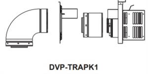 Horizontal Termination Cap with Slip Section and 90 Degree Elbow Hearth Home Technologies Direct Vent Pipe DVP-TRAPK1