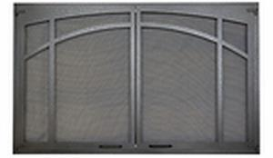 Decorative Twin Pain Door With Mesh Screens For Vent Free