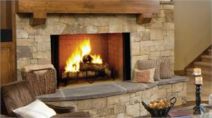 "Majestic Biltmore SB100 SB100HB Radiant 50"" Wood Burning Fireplace"