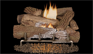 "Outdoor Vent Free 30"" Gas Log Set with Stainless Steel Burner Mossy Oak"