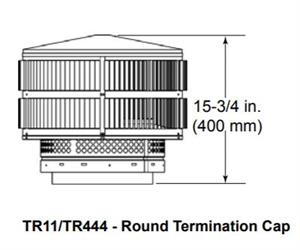 Outdoor Lifestyles Round Telescoping Termination Cap w//Storm Collar for SL300 Series Pipe